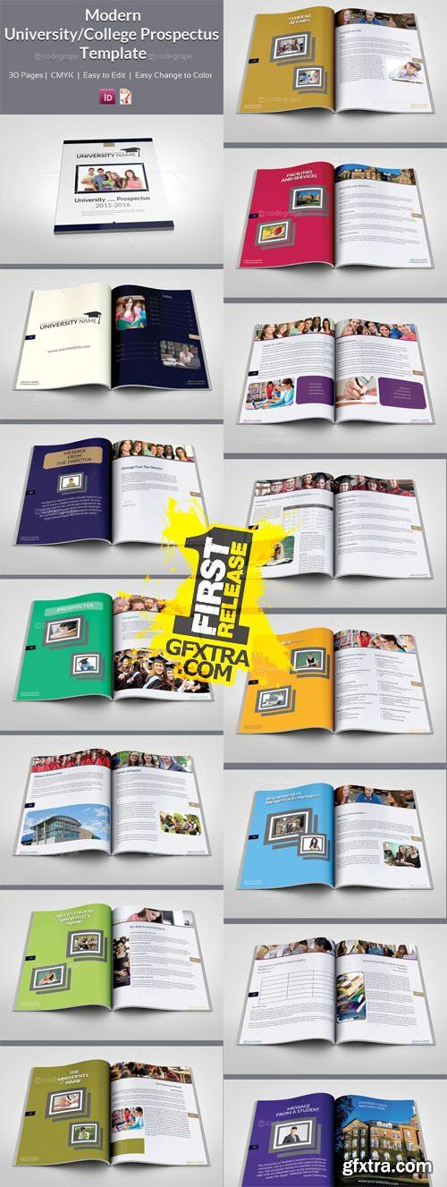 Modern University  College Prospectus Template  Magazin