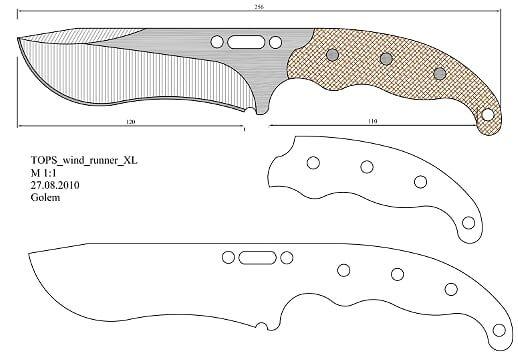 Tops Wind Runner Xl Model 1 Pdf Onedrive Knife Patterns Knife Making Wind Runner