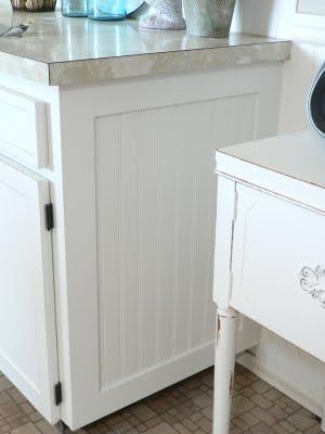 Finish end of cabinet with bead board and trim... | Kitchen ...