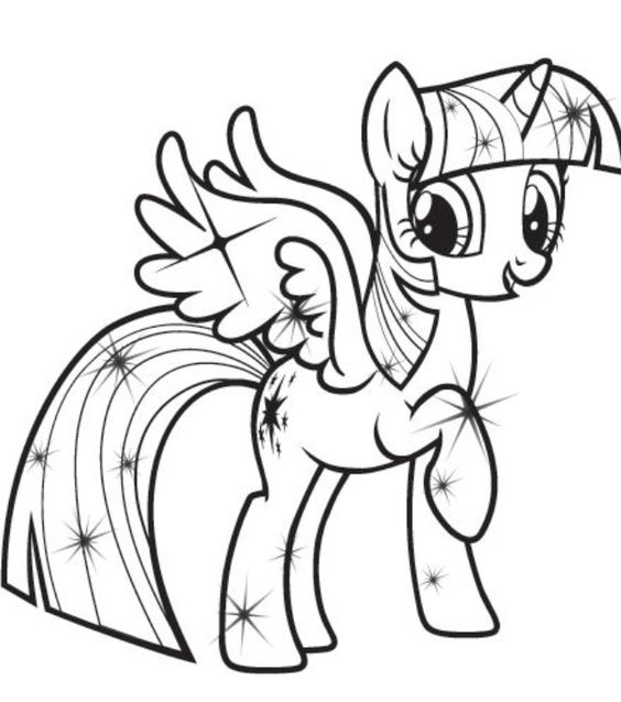 640 725 pixels my for Twilight sparkle coloring page