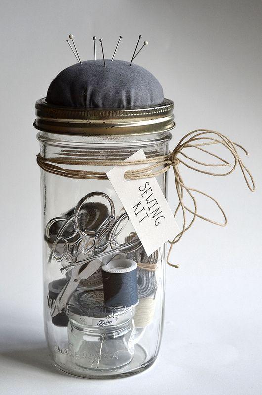 DIY // Mason Jar Sewing Kit:
