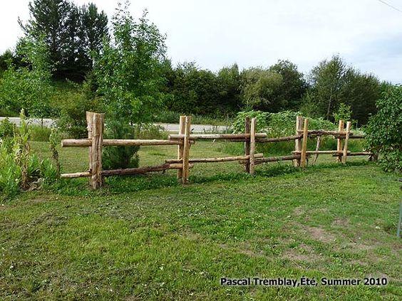 Build a log fences guide log fence design ideas cedar for Garden fence posts ideas