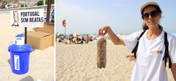 Perto de cinco mil beatas de cigarros foram recolhidas esta manhã do areal da Praia da Figueirinha