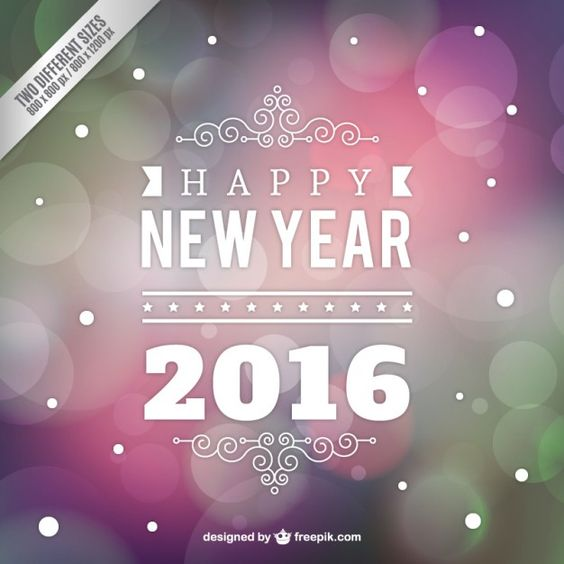 Colorido ano novo fundo bokeh Vetor Premium