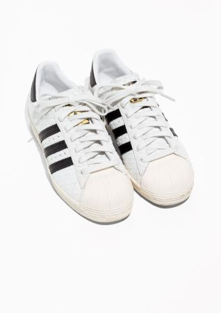 & Other Stories image 2 of adidas Superstar 80s W in White