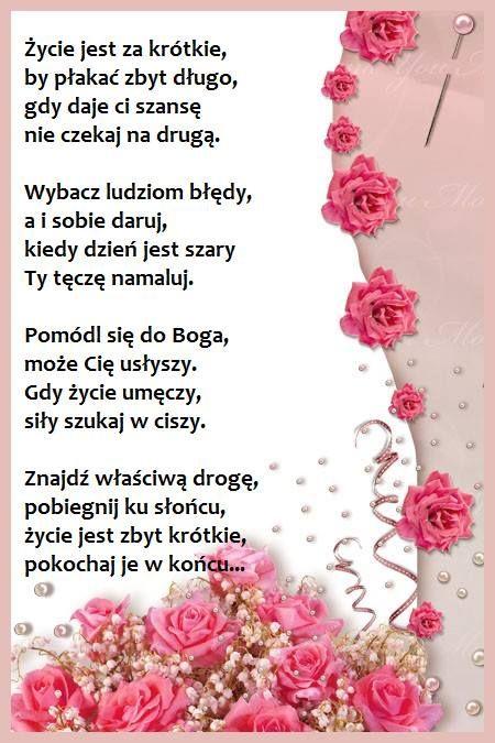 Zycie Jest Piekne Everyday Prayers Thursday Prayer Polish Quotes