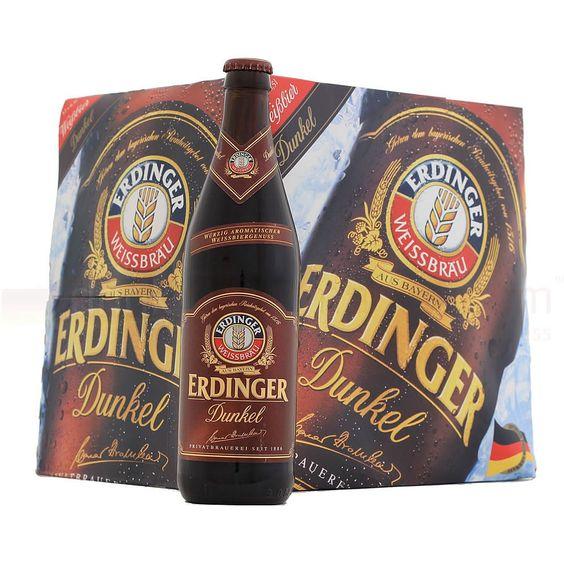 Bia Erdinger Weibbier Dunkel 5,3% - Chai 500ml