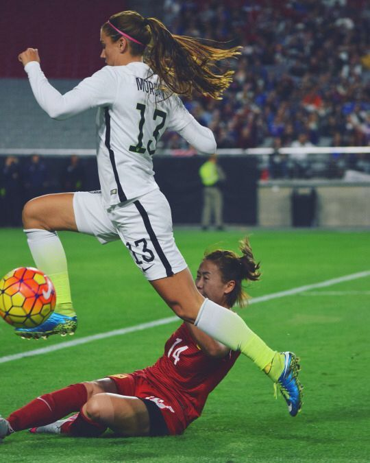 Alex Morgan Victorytour Usa Vs Chn Usa Soccer Women Soccer Girl Soccer Training