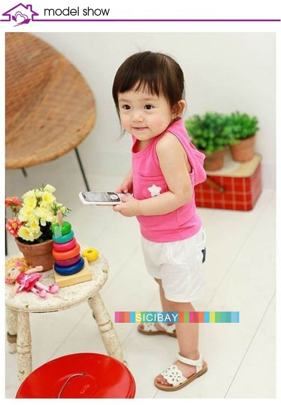 Children toddlers summer suits new style hooded vests+pants