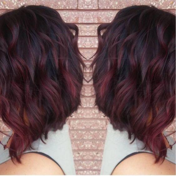 Brown Red Violet Hair Color in 2019
