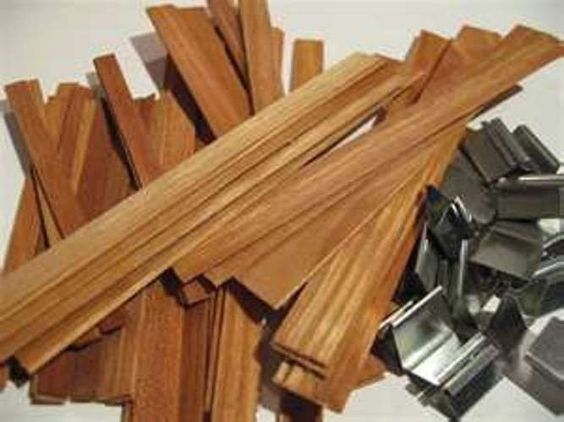 50pcs Wood Wicks for Candles Soy or Palm Wax Candle Making Supplies