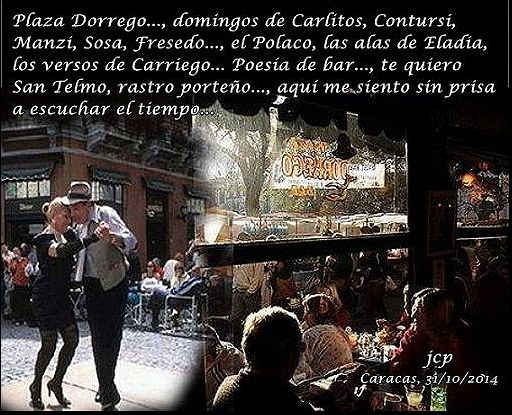 Aire de San Telmo  Plaza Dorrego, domingos de Carlitos, Contursi, Manzi, La Merello, Sosa y Fresedo..., el Polaco, las alas de Eladia, los versos de... // Seguir leyendo en... http://recuerdosyantojosdelcorazon.blogspot.com/2016/02/aire-de-san-telmo-plaza-dorrego.html