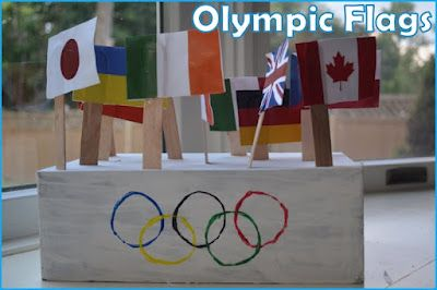 A simple craft to get kids excited about Olympics (and to learn flags)