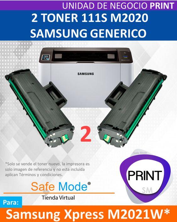 2 Toner para Samsung Xpress M2021W  [Nuevo]