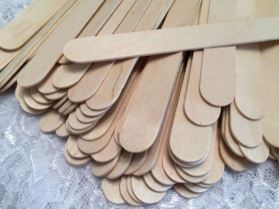 Jumbo Craft Sticks, Natural Wood Sticks - Set of 100 by EllieMarieDesigns on…