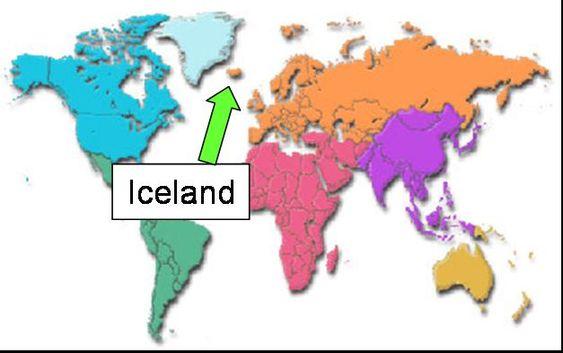 Iceland On World Map World Maps Pinterest Iceland And Buckets - Iceland map world