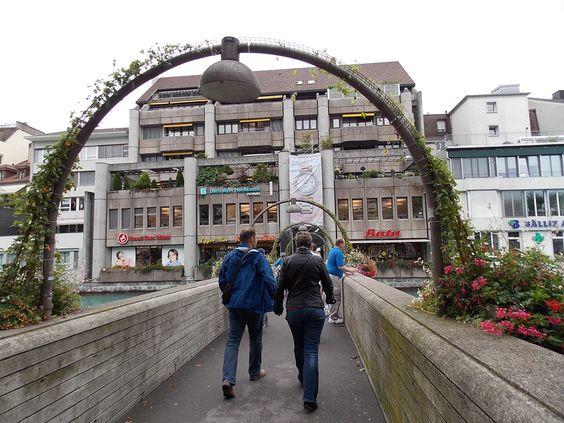 Pedestrian bridge in Thun