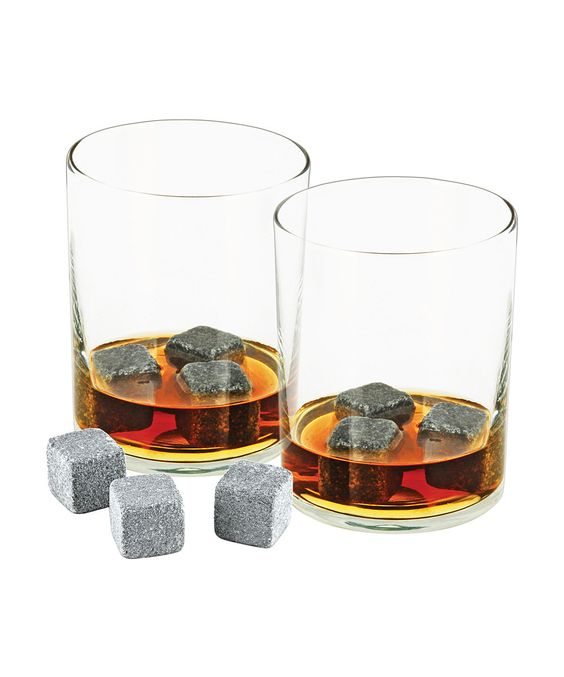 Glacier Rock/soapstone - Set of Nine---looks kinda weird to have rocks in your glass, but ur drinks won't get diluted this way. put in freezer for a couple hrs or microwave for a hot drink.