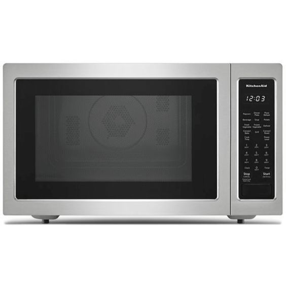 Kmcc5015gss By Kitchenaid Countertop Microwaves Goedekers Com Stainless Steel Microwave Countertop Microwave