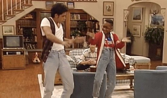 Remember when Steve Urkel got strutting lessons from Uncle Jesse?