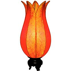 Vietnam shopping: Om Gallery Flowering Citrus Lotus Silk Table Lamp (Vietnam)