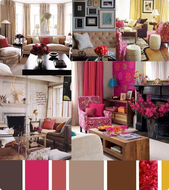 Pink Living Room Idea