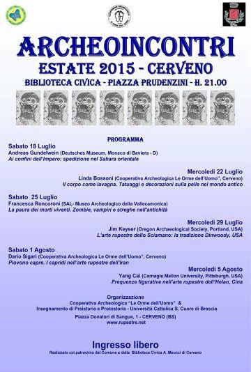 Conferences in Cerveno  #rock #art #archaeology