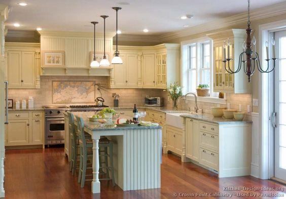 Vintage Kitchen Farmhouse Kitchen Cabinets And Antique White Kitchens