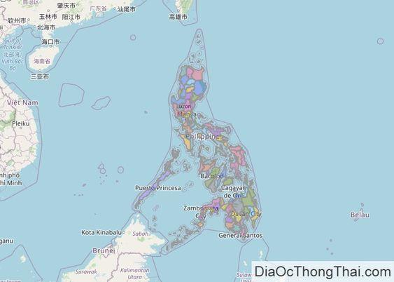 Bản đồ Philippines Philippines Bản đồ
