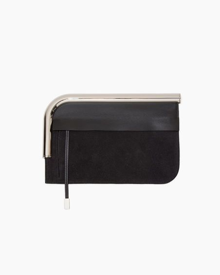 Proenza Schouler | Curved Chrome Bar Clutch