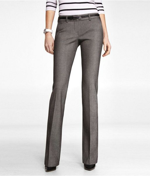 Express Womens Twill Tab Waist Columnist Pant Gray, 00 Short