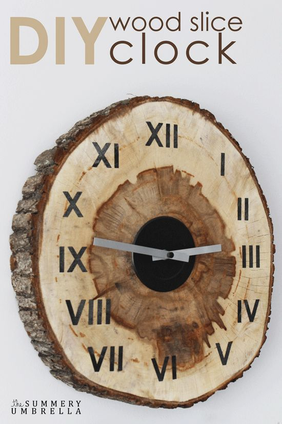 Learn How to Create a Custom DIY Wood Slice Clock with this DIY Home Decor Pin
