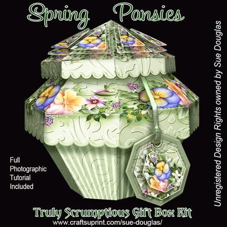 Truly Scrumptious Gift Box Spring Pansies