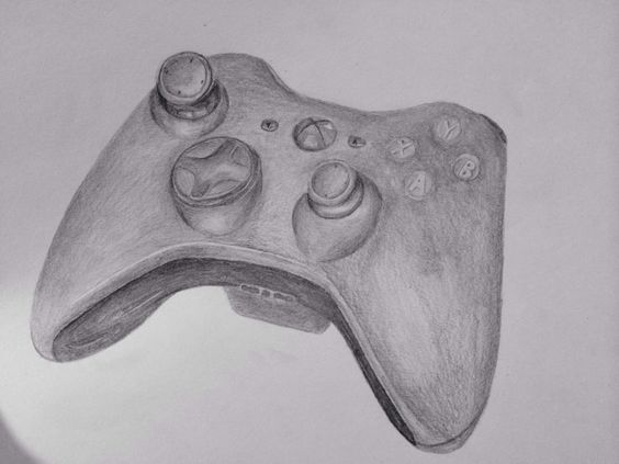 Drawing Smooth Lines Xbox : Drawing of a xbox controller by brent brereton art