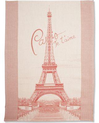 Pretty Paris tea towel