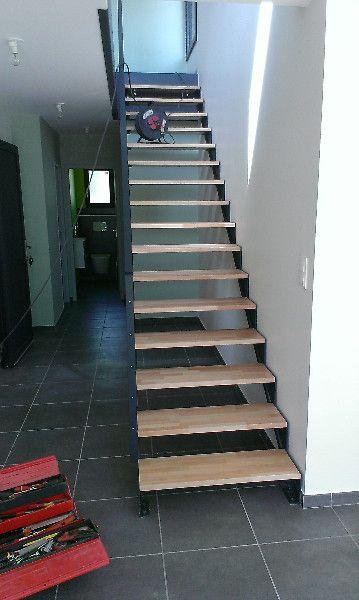 Fabricant Etude, fabrication et installation du0027escalier droit design - fabriquer escalier exterieur bois
