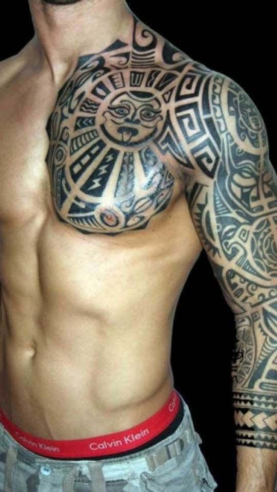 Most Famous Top 10 Tattoo 2018 Chest Tattoo Men Polynesian Tattoo Tribal Tattoos