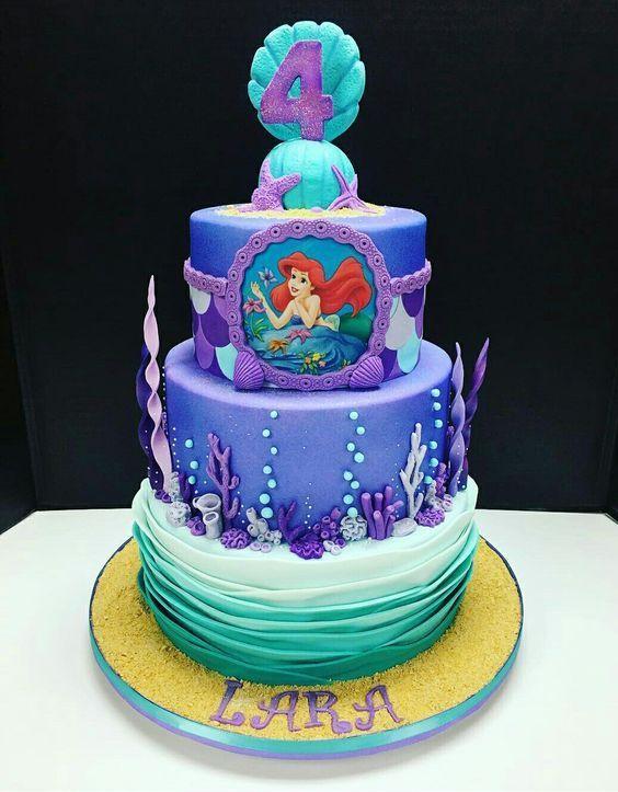 Astonishing Birthday Cake Designs Mermaid Birthday Cakes Little Mermaid Birthday Cards Printable Giouspongecafe Filternl