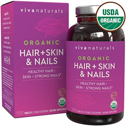 Details About Organic Hair Skin And Nails Vitamins For Women With