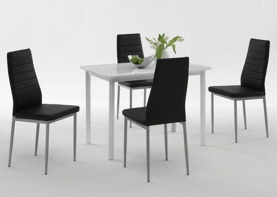 Essgruppe Esstisch Anke mit 4 Stühlen Simone 3663. Buy now at https://www.moebel-wohnbar.de/essgruppe-esstisch-anke-mit-4-stuehlen-simone-3663.html