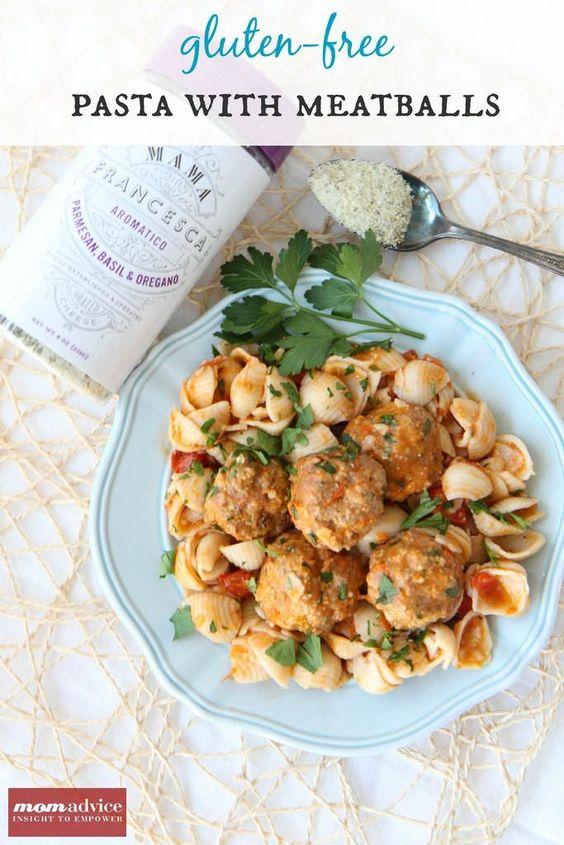 Mama Francesca Cheese & a Gluten-Free Meatball & Pasta Recipe - MomAdvice