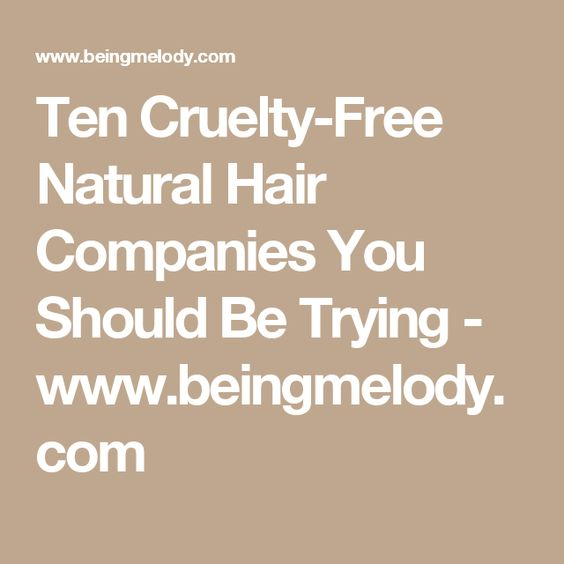 Ten Cruelty-Free Natural Hair Companies You Should Be Trying - www.beingmelody.com