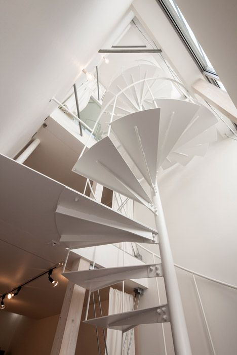 Best Spiral Staircase Inside A Super Skinny Japanese House 400 x 300