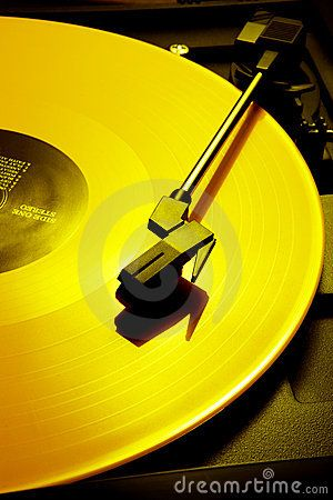 "yellow LP - I actually have one.  It's a Side Effect album called ""Going Bananas!""  I showed it to my son who said, ""Awesome.    How did you play it?""  LOL!!  Yep, things have changed."