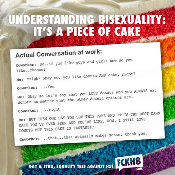 I love this. Next time someone doesn't get it; I'll say something to that effect but more in a pansexual way, for myself of course,