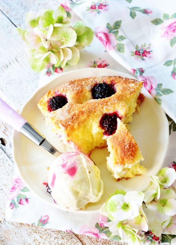 Kessy's Pink Sugar: Flauschiger Brombeer Zuckerkuchen und ein tolles Bellissimo Dankeschön