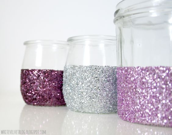 DIY : Photophores pailletés: