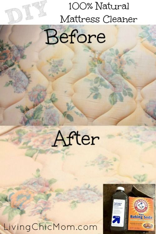 DIY 100% All Natural Mattress Stain Removing Spray - Living Chic Mom