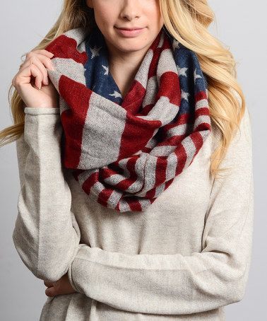 Look at this #zulilyfind! Red American Flag Infinity Scarf by Leto Collection #zulilyfinds