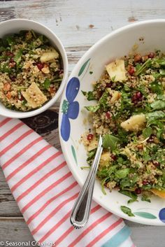 Quinoa Salad with Watercress, Pomegranate and Apples